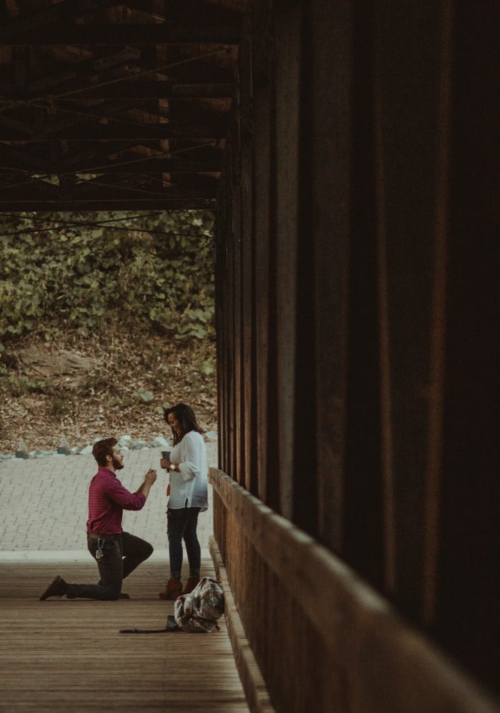 Katie and Stephen's Engagement in Roswell Mill