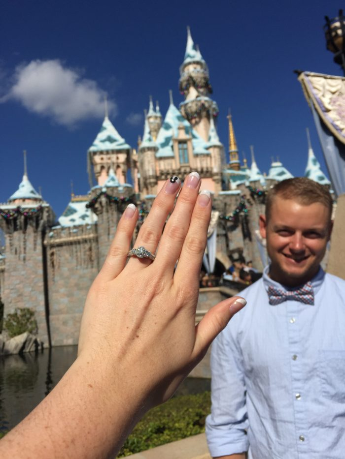 Engagement Proposal Ideas in Sleeping Beauty's Castle at Disneyland