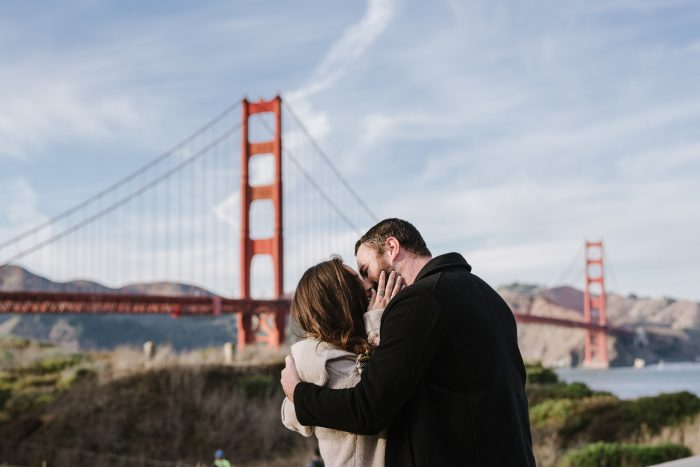 Danielle and Andrew's Engagement in Fort Point, San Francisco