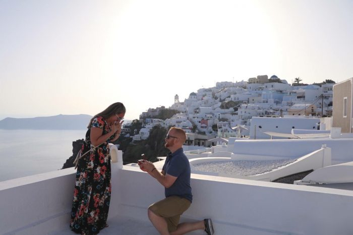 Devin's Proposal in Santorini, Greece
