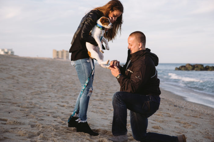 Marissa and Maciej's Engagement in Long Branch Beach