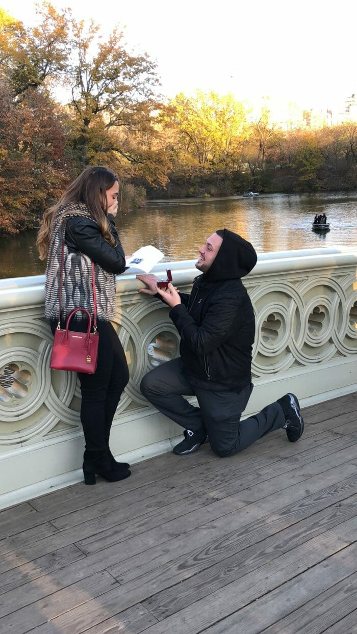 Antonella's Proposal in Central Park