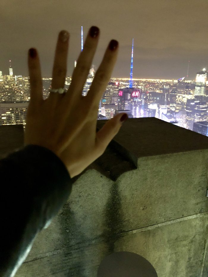 Engagement Proposal Ideas in Top of the Rock, NYC, NY