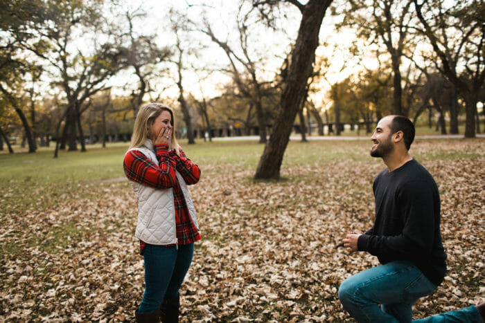 Jenna's Proposal in Trinity Park - Fort Worth, TX