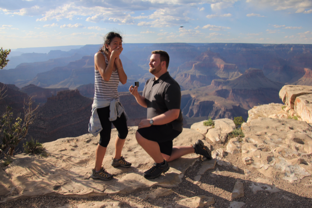Marriage Proposal Ideas in The Grand Canyon