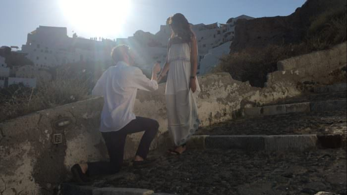 Engagement Proposal Ideas in Santorini Greece