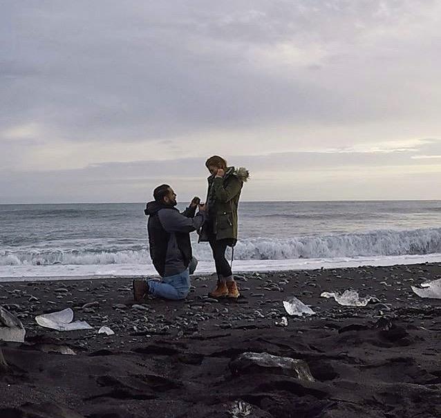 Wedding Proposal Ideas in Diamond Beach, Iceland