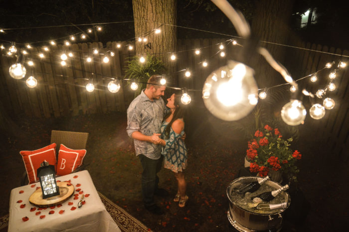 Ashley's Proposal in Brad's backyard