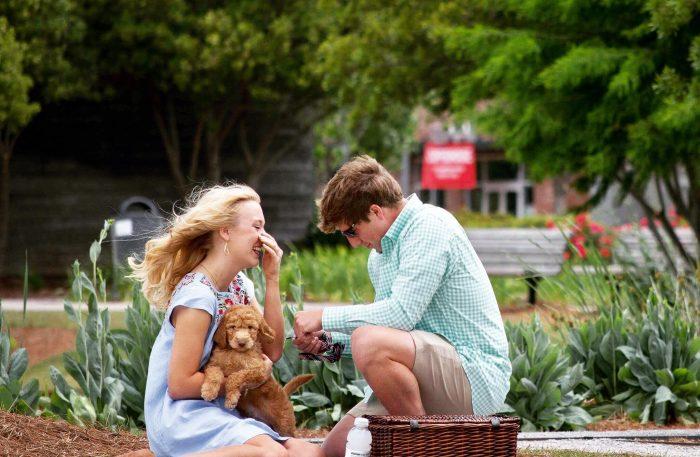 Marriage Proposal Ideas in Railroad Park, Birmingham, AL