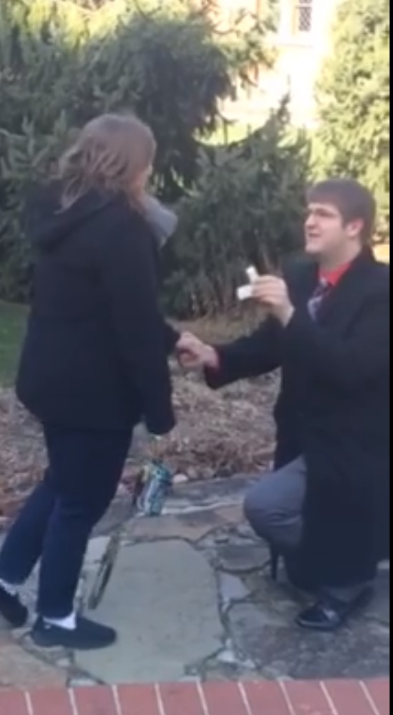 Annie's Proposal in Saint Vincent College