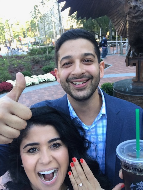 Zahra and Bijan's Engagement in Temple University