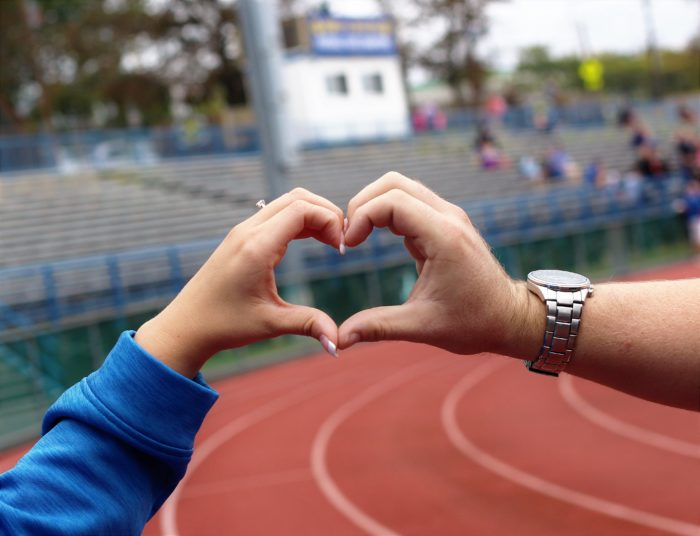 Marriage Proposal Ideas in Cranford Football Field