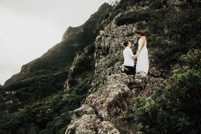 Amy's Proposal in Crouching Lion, Ka'a'awa Bay, Oahu Hawaii