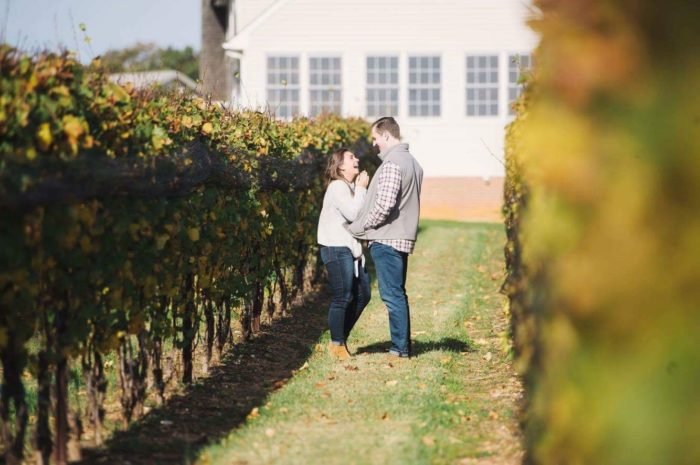 Katie and Cody's Engagement in Old Westminster Winery