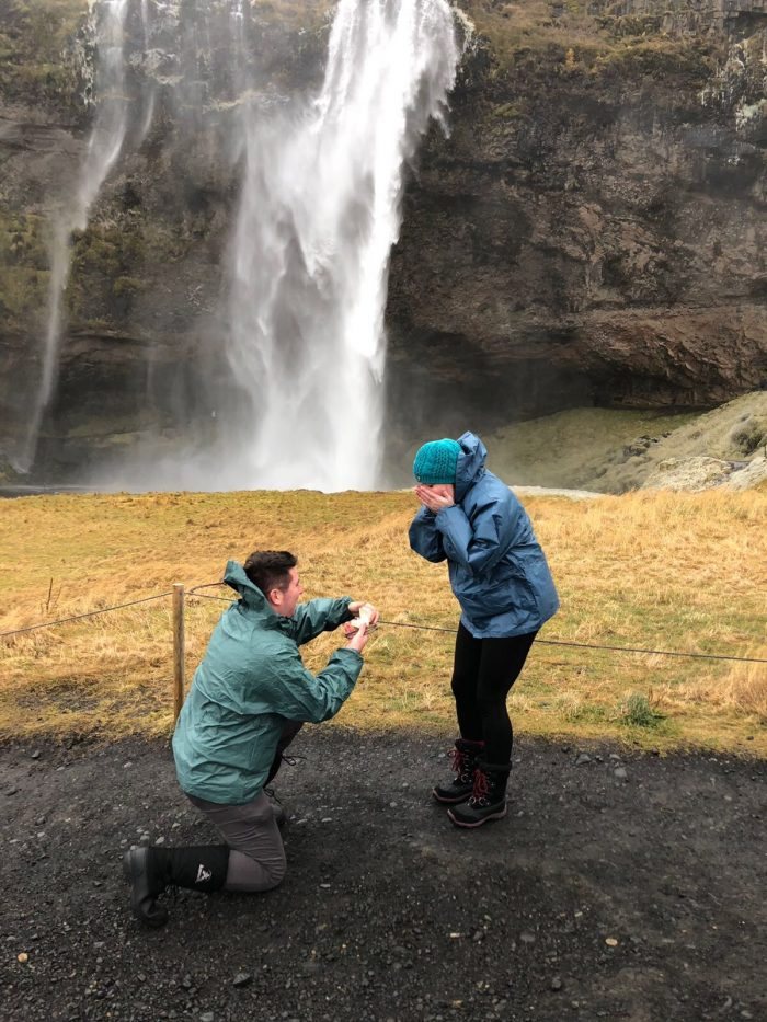 Where to Propose in Seljalandsfoss, Iceland
