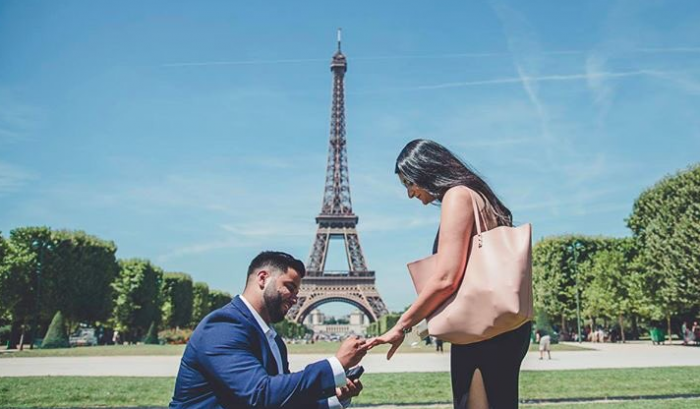 Harpreet's Proposal in Paris, France