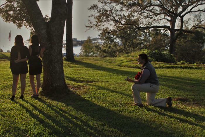 Chelsey's Proposal in Fairhope Bluff