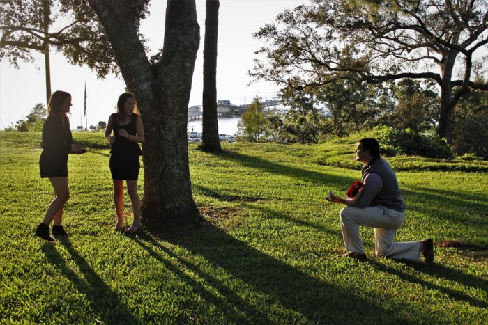 Chelsey and Michael's Engagement in Fairhope Bluff