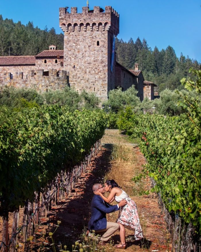 Where to Propose in Castello Di Amorosa Winery