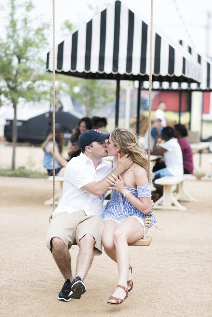 Craig and Kelly's Engagement in Magnolia Market- Waco, TX