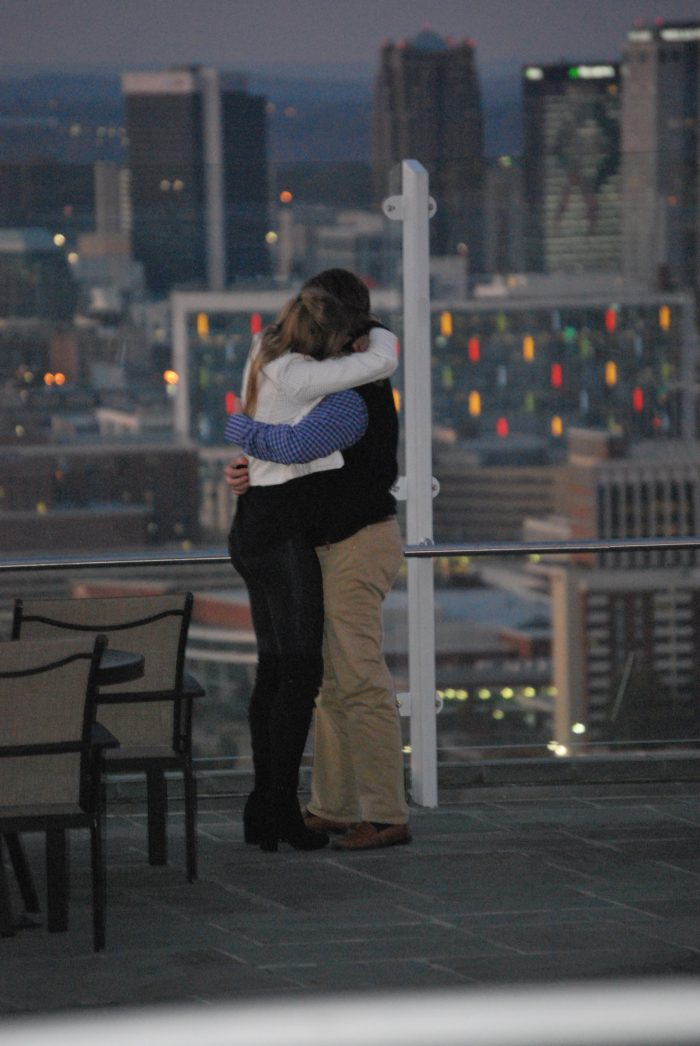 Engagement Proposal Ideas in The Club atop Red Mountain in Birmingham, AL