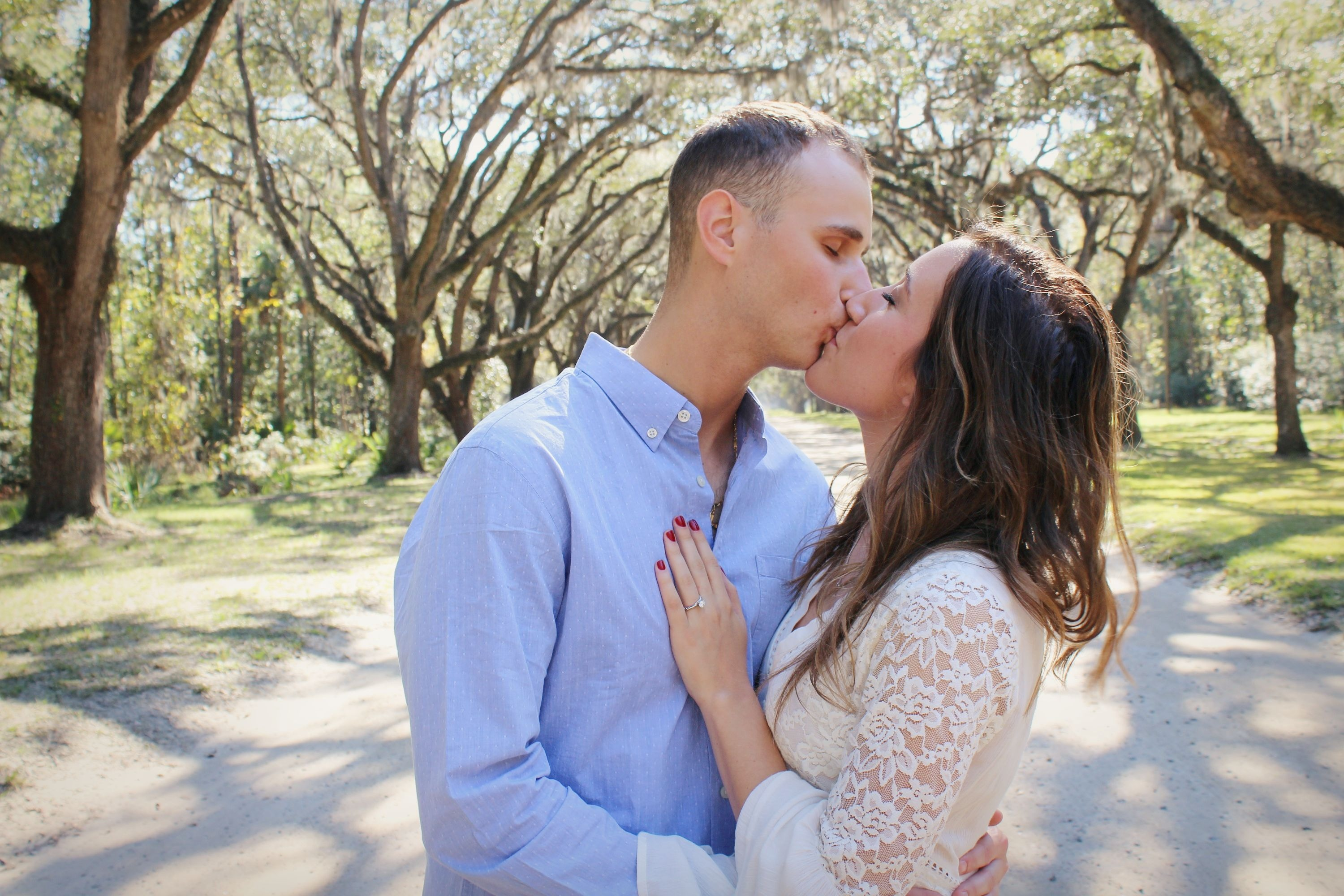 Sara and Vince's Engagement in Wormsloe Plantation, Savannah, Georgia