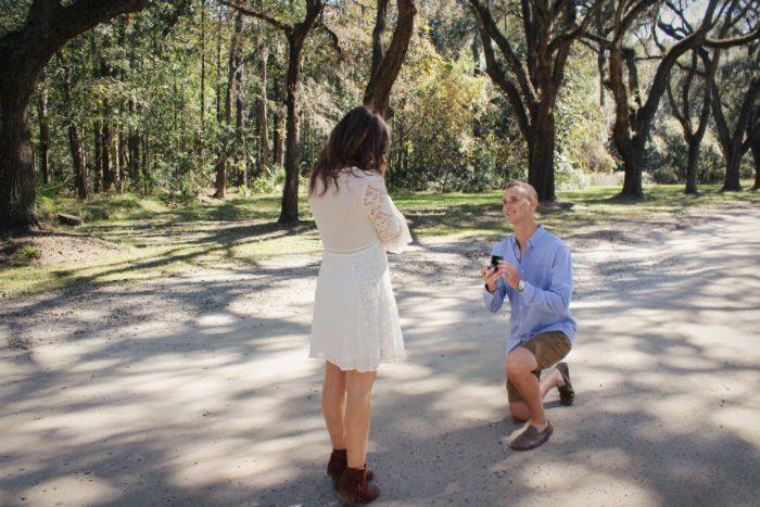 Sara's Proposal in Wormsloe Plantation, Savannah, Georgia