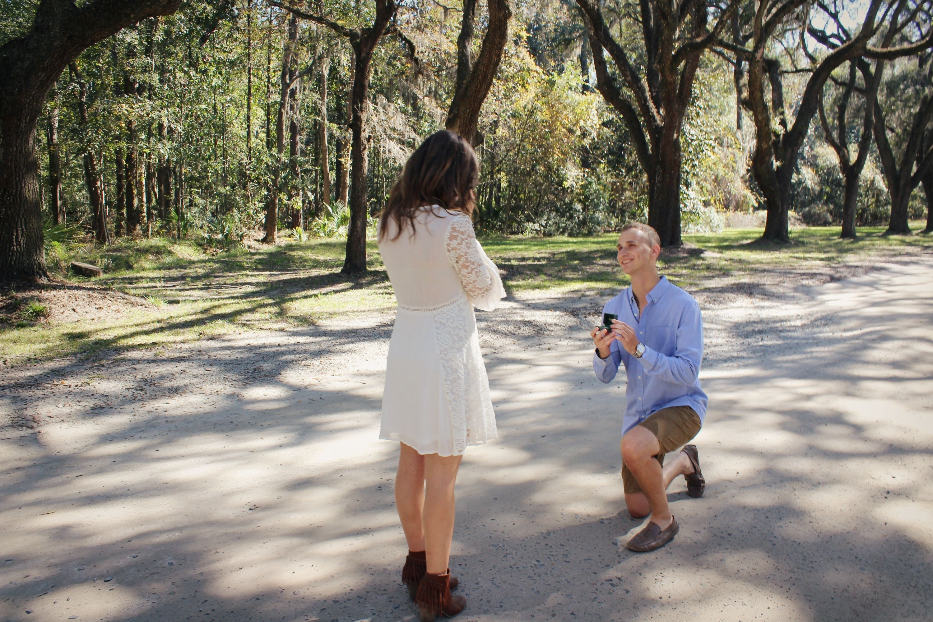 Sara's Proposal in Wormsloe Plantation, Savannah, Georgia
