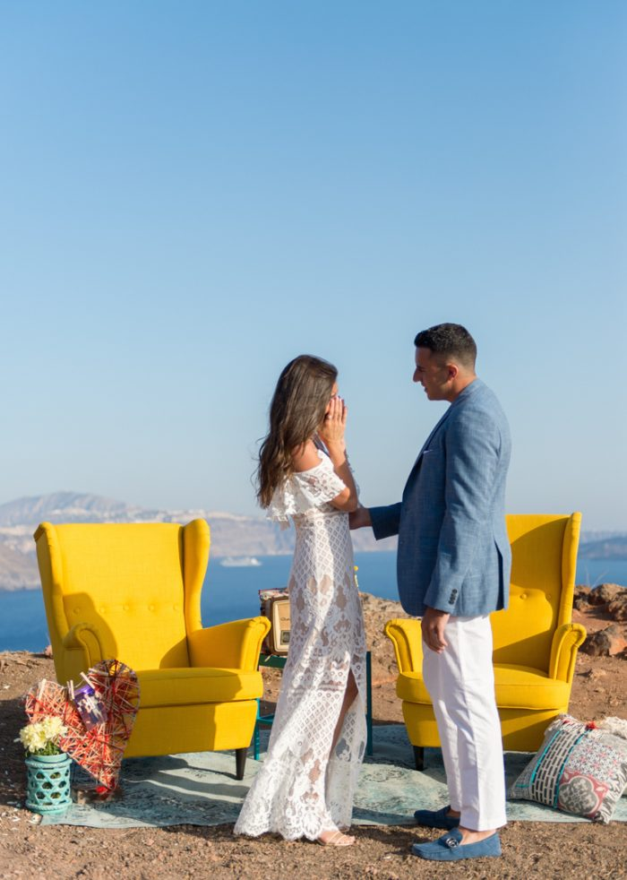 Stephanie's Proposal in Santorini, Greece