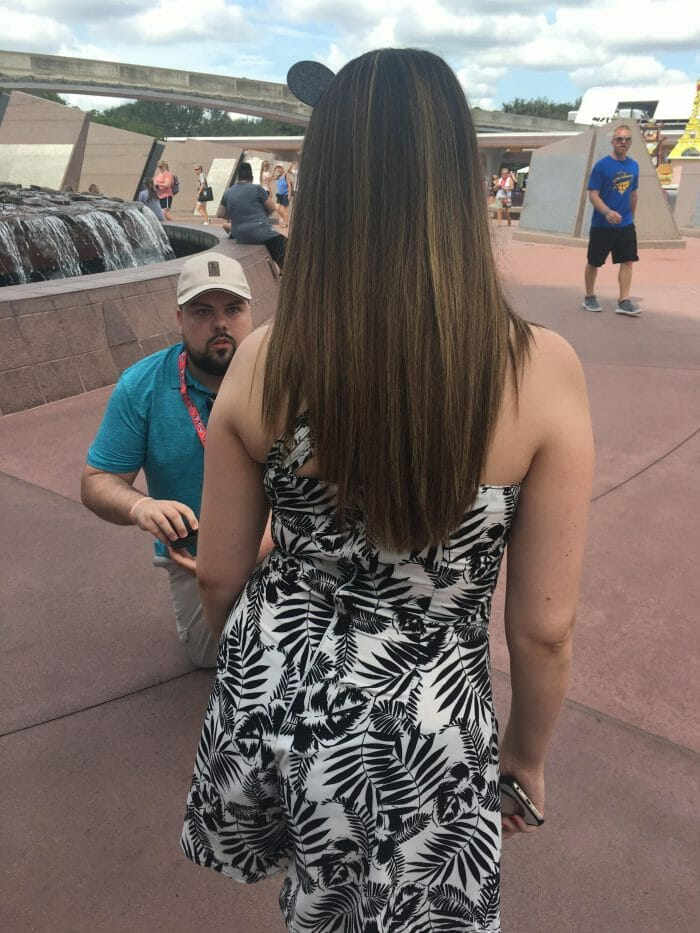 Jessica and Kenneth's Engagement in Epcot in Disney, Florida