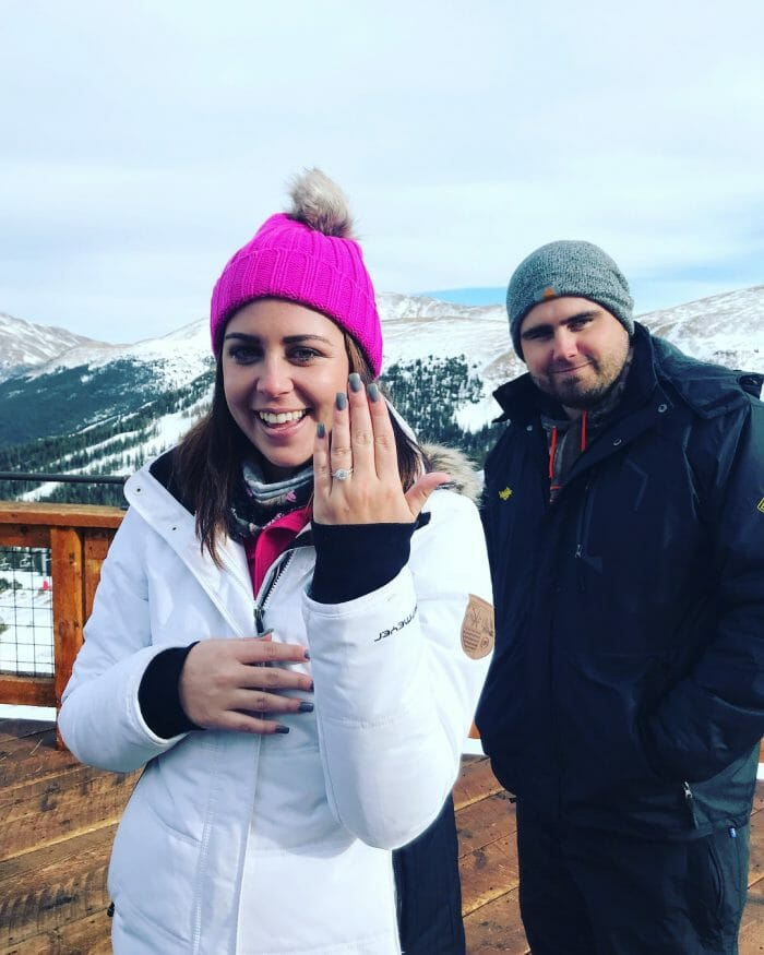 Engagement Proposal Ideas in Loveland Ski area at the very top of the mountain