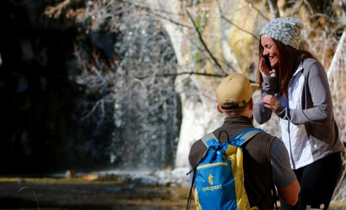Chelsi and Brennan's Engagement in Hanging lake, Colorado