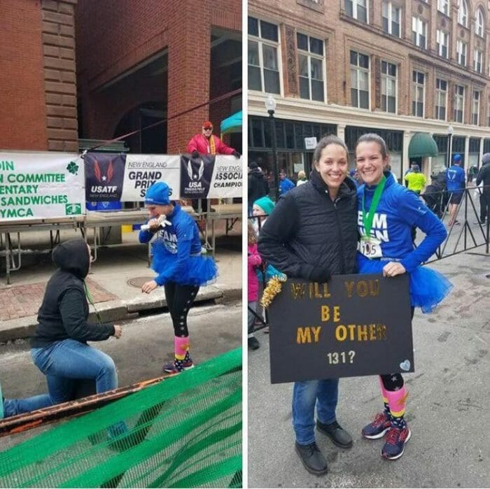 Marriage Proposal Ideas in New Bedford Half Marathon