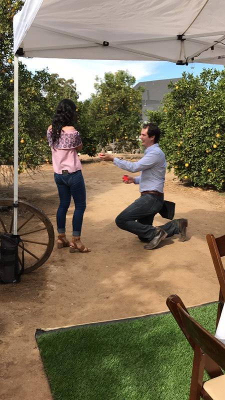 Adriana De and Jose Eduardo's Engagement in Orange Grove in Riverside