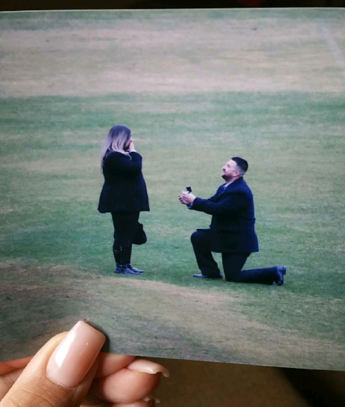 Marriage Proposal Ideas in Grizzled Stadium, Fresno, Ca