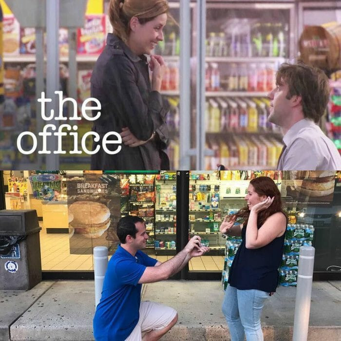 Jenna's Proposal in At a gas station in New Jersey