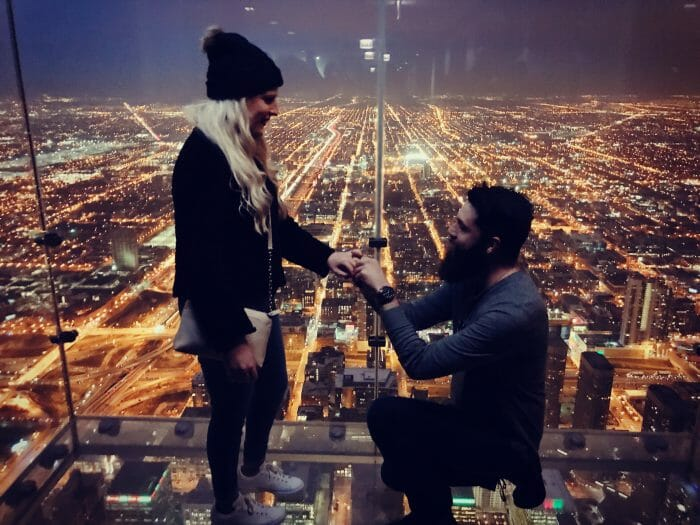 Where to Propose in Chicago/Skydeck of the Sears Tower