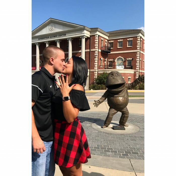 Maria and Alex's Engagement in Western Kentucky University's homecoming