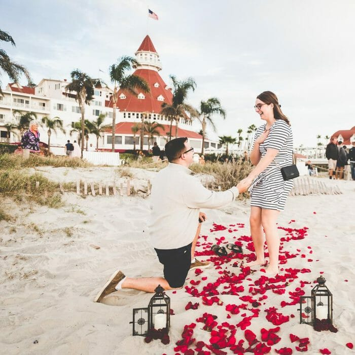 Wedding Proposal Ideas in Hotel del Coronado - San Diego, California