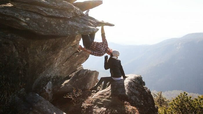 Where to Propose in Hawksbill Mountain North Carolina