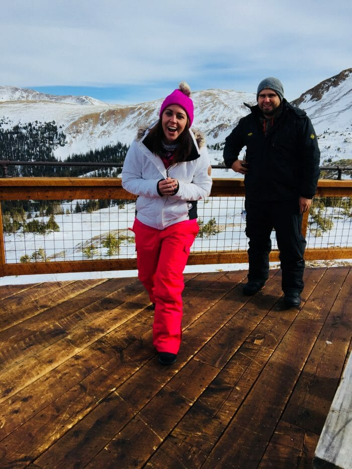 Wedding Proposal Ideas in Loveland Ski area at the very top of the mountain