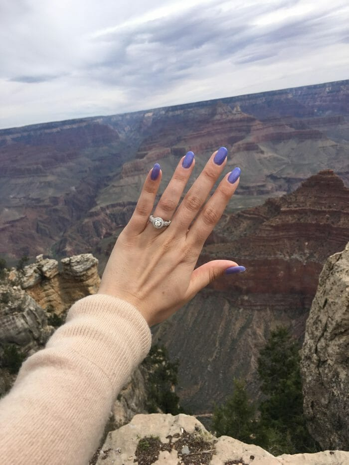 Mia and Joseph's Engagement in The Grand Canyon, Arizona
