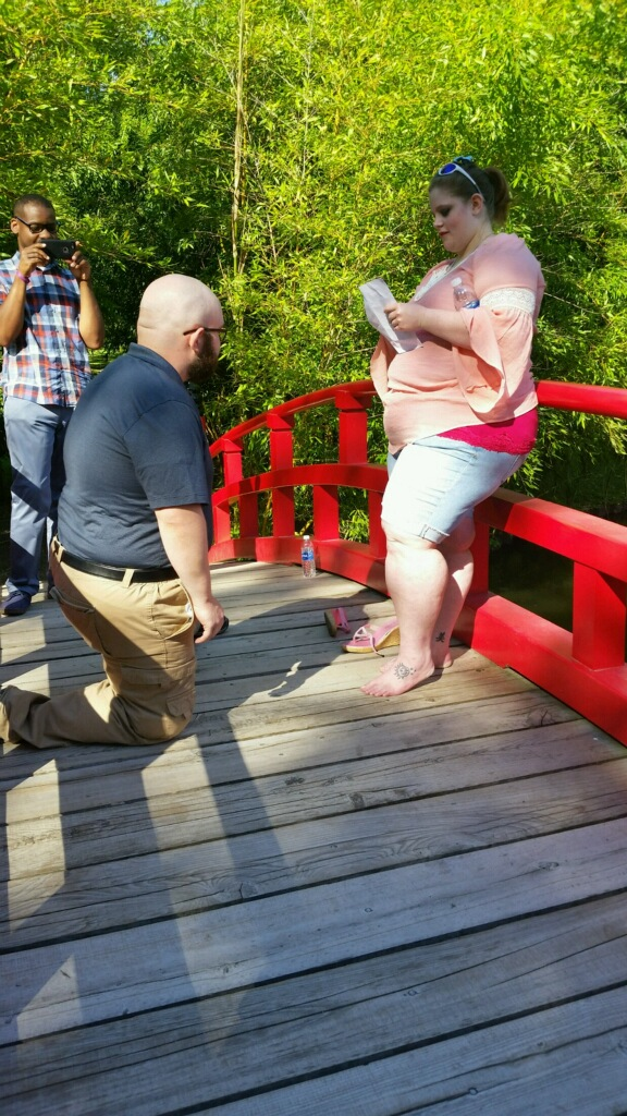 Wedding Proposal Ideas in Memphis Botantical Gardens
