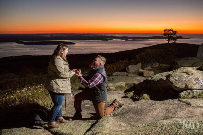 Meghan and Christopher's Engagement in Cadillac Mountain Acadia National Park