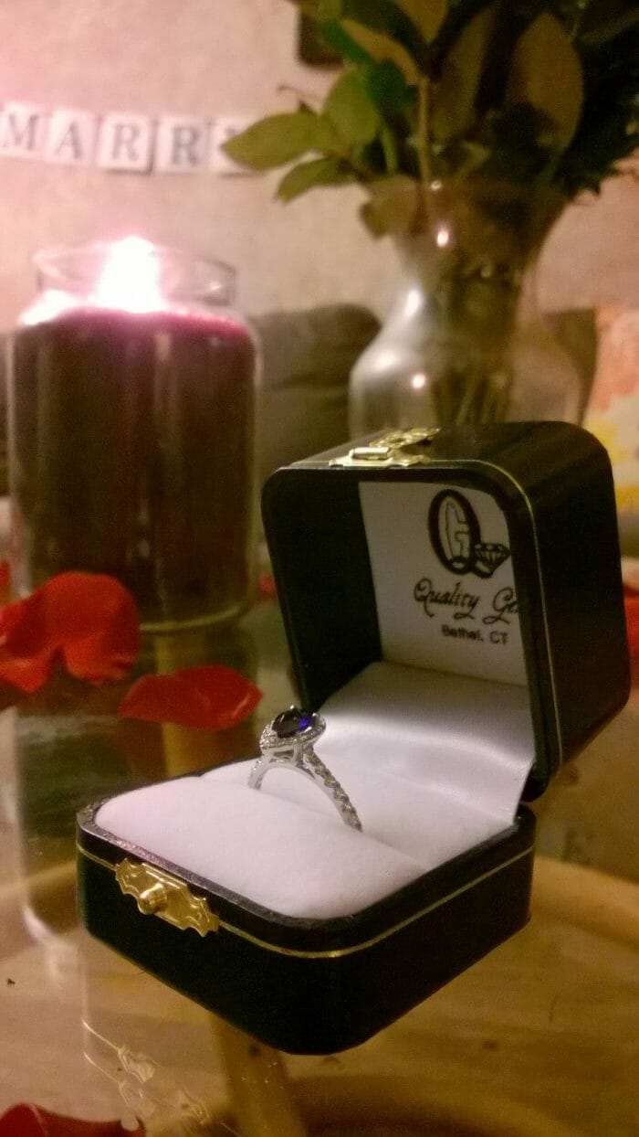 Wedding Proposal Ideas in At our home