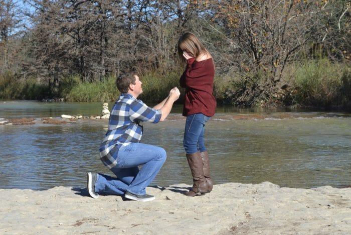 Jessica's Proposal in Concan, TX