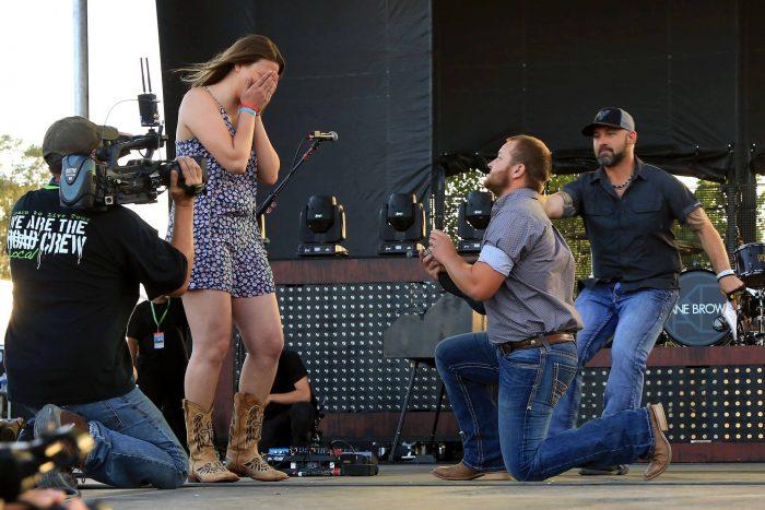 Wedding Proposal Ideas in Bands in the Backyard Pueblo, Colorado