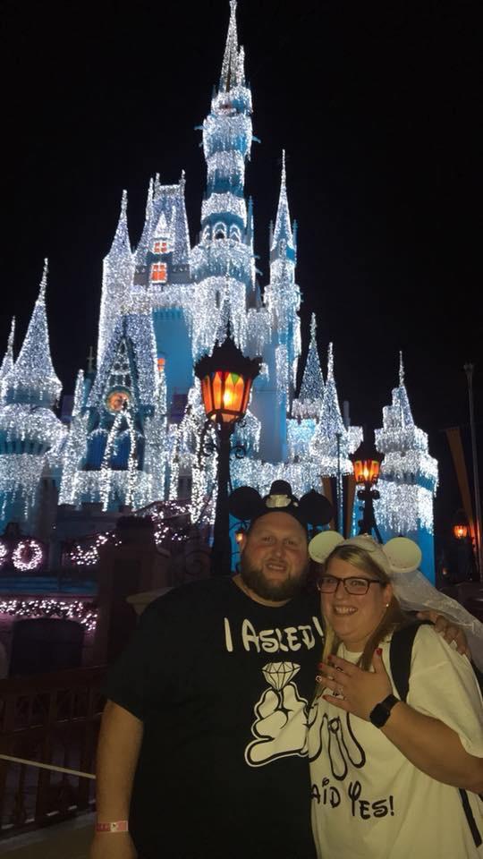 Amanda's Proposal in Magic Kingdom- Mickey's Christmas Party