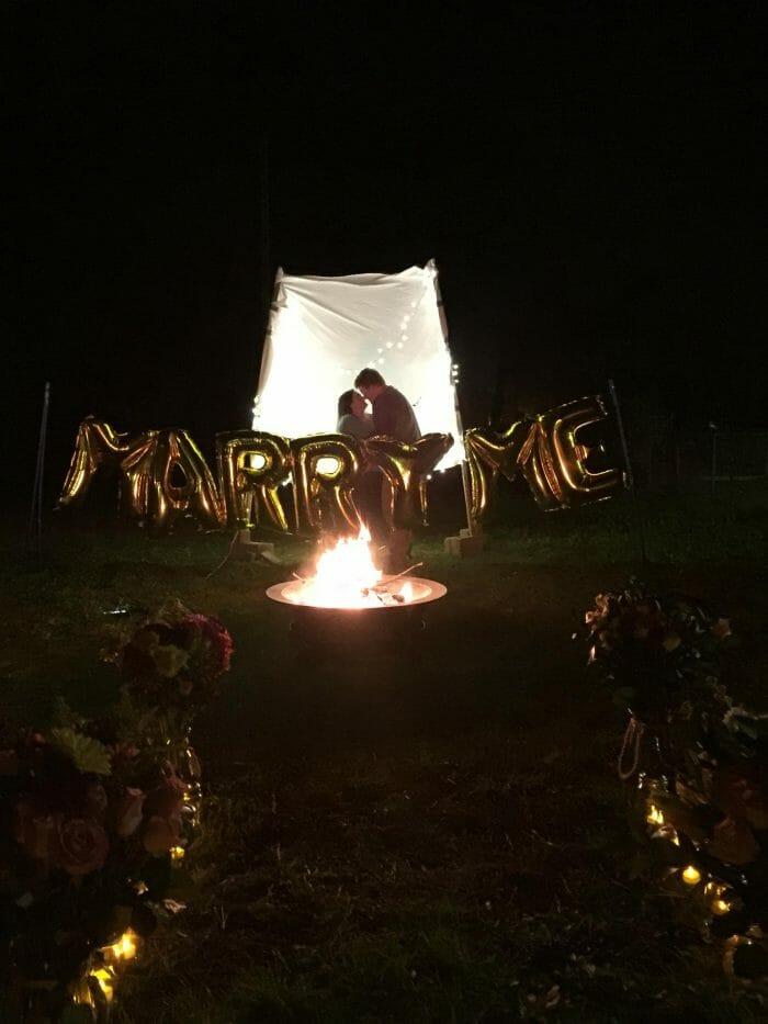 Engagement Proposal Ideas in Newberry SC, My backyard