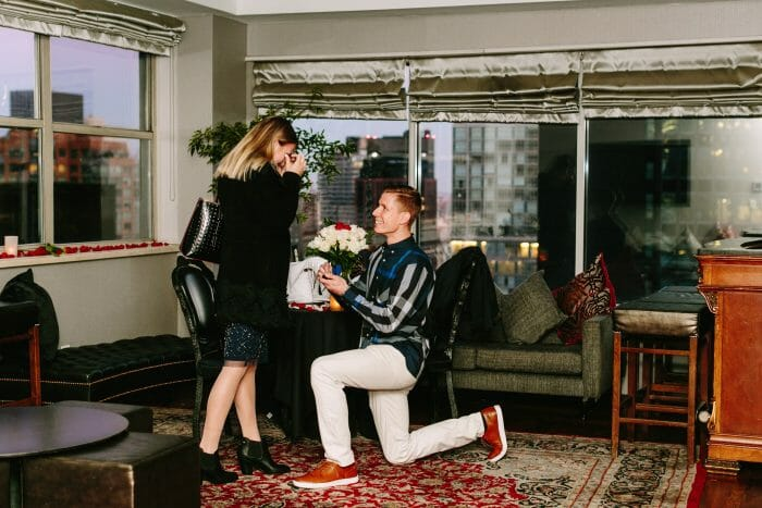 Marriage Proposal Ideas in NYC at the Kimberly Hotel Rooftop